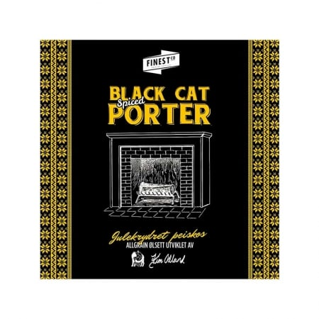 Black Cat Spiced Porter bryggesett
