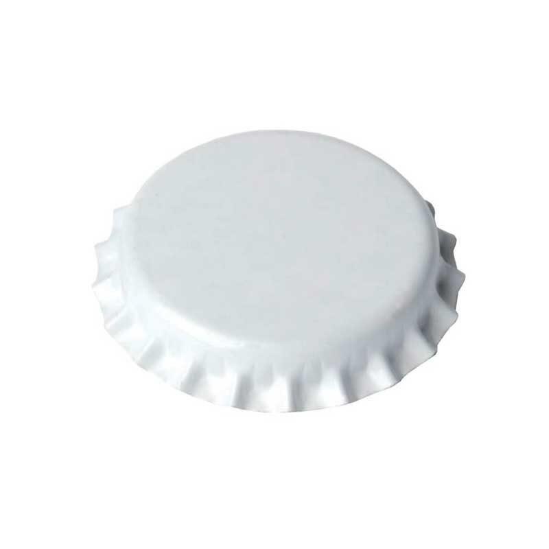 Flaskekapsler. 100 stk hvite. Ø 29mm