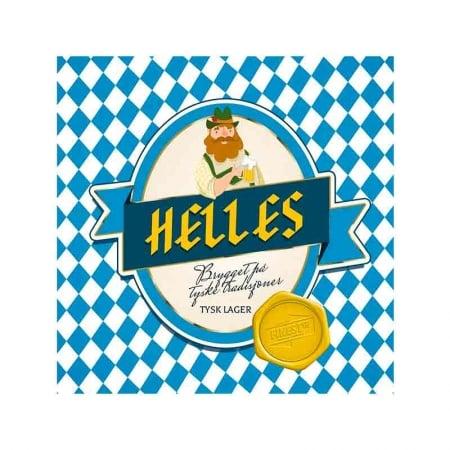 Helles Allgrain bryggesett. Tysk lager