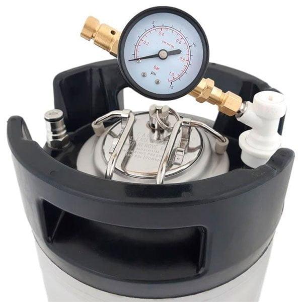 Justerbar trykkventil på ball lock Spunding valve