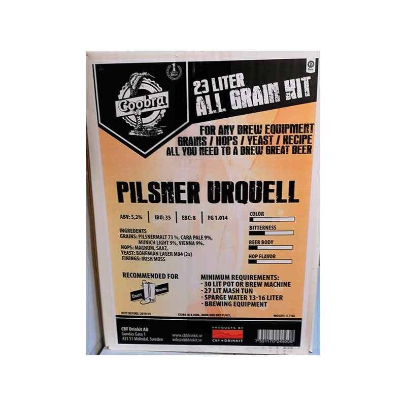 Pilsner Urquell. Coobra All grain-Kit