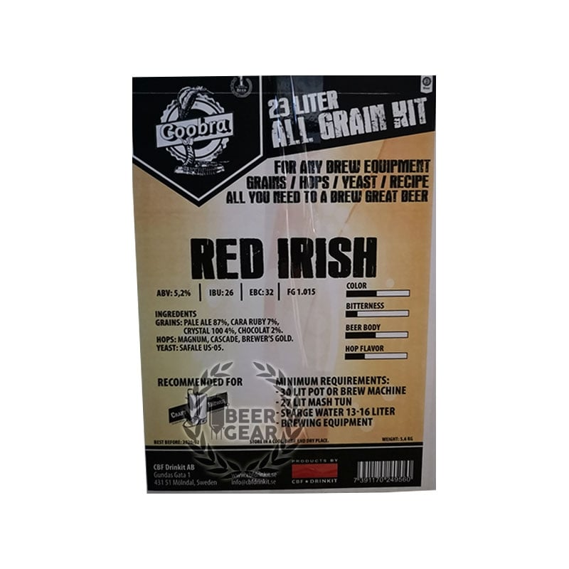 Red irish all grain kit ølsett