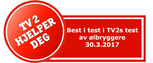 Ølbrygger Best i test TV2