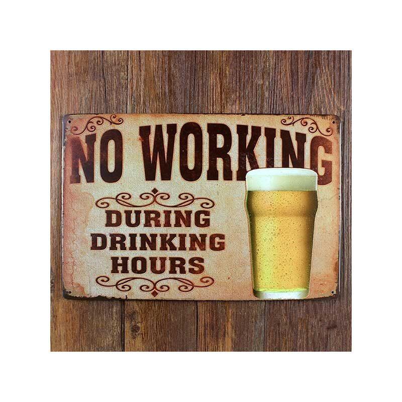 No working ølskilt